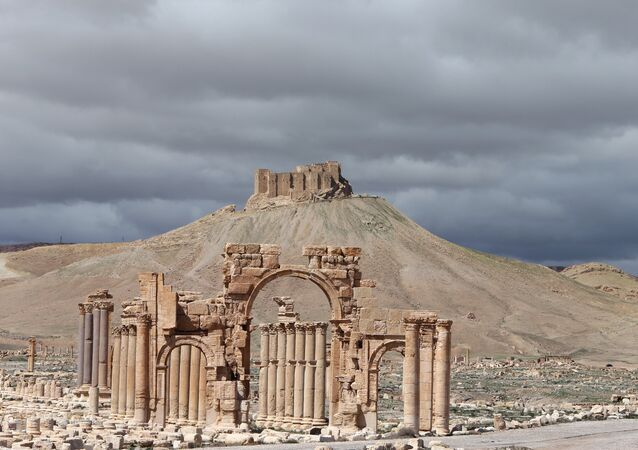 View of the ancient oasis city of Palmyra