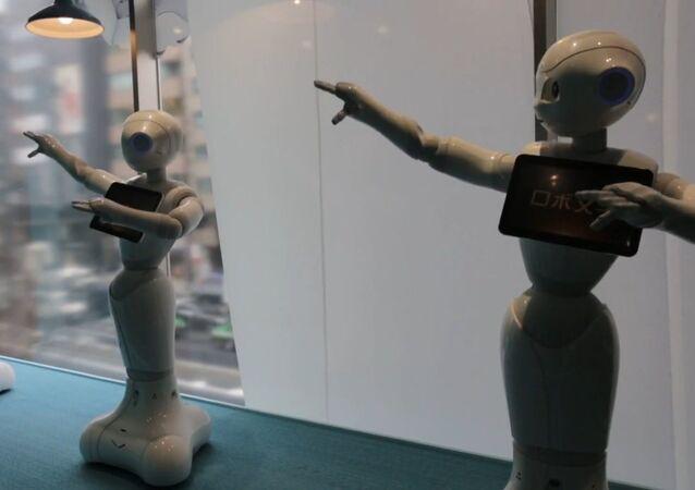 Robots Take Over Shop in Japan