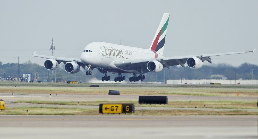 Emirates' A380 flight