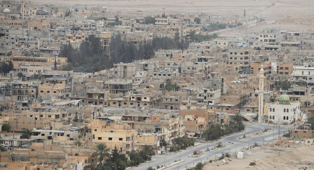 Syrian government army and militia fight for Palmyra
