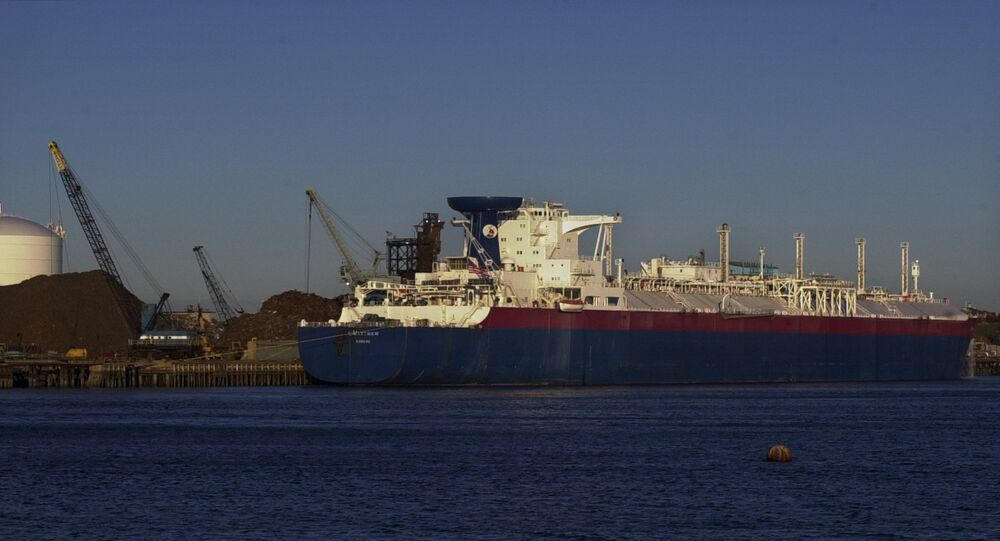 Matthew, a liquefied natural gas tanker, unloads its cargo of 33 million gallons of LNG in Everett