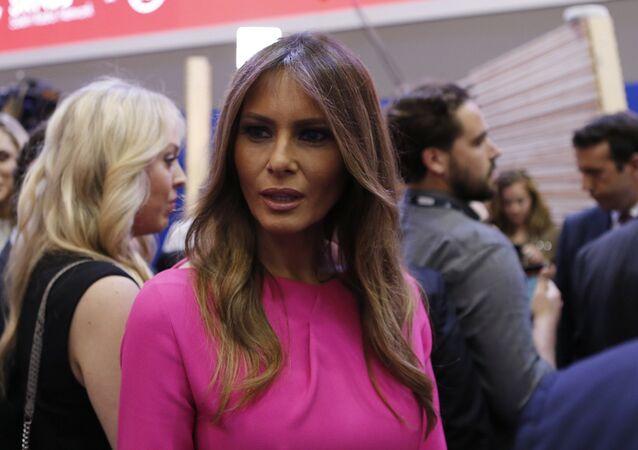 Melania Trump, wife of Republican U.S. presidential candidate Donald Trump