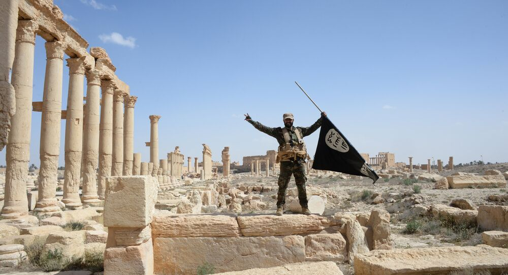 A historic site in the Syrian city of Palmyra destroyed in the military operations.