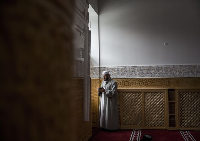 A man is pictured on June 19, 2014 during the official opening of Denmark's first mosque with a dome and minaret in Rovsingsgade, in Copenhagen's gritty northwest after receiving a 150 million kroner (20,1 million Euros, $27,2 million) endowment from Qatar.