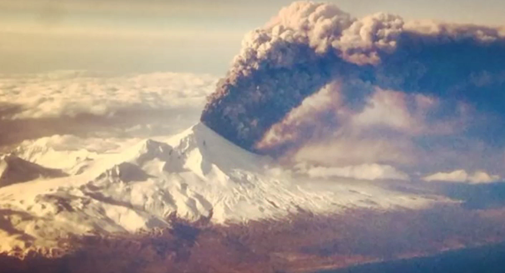 Alaska's Pavlof Volcano Erupts 20,000 Feet in the Air (VIDEO)