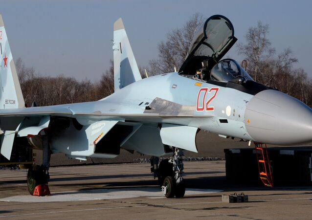 The Sukhoi Su-35S fighter jet