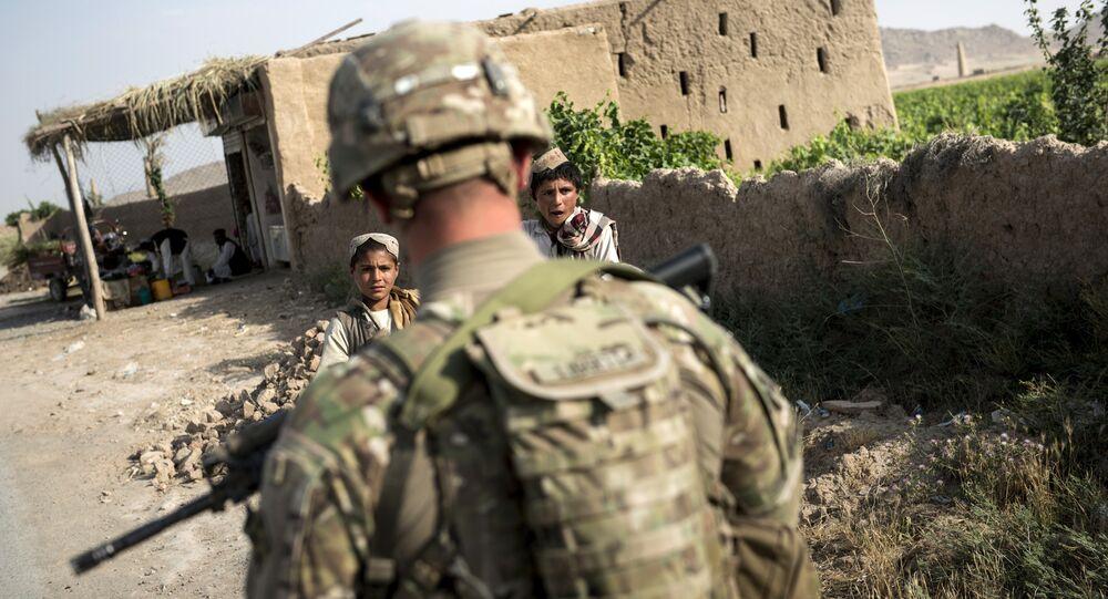 A US soldier patrols near Kandahar Airfield. file photo