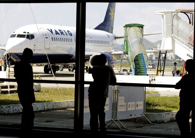737 Boeing of Brazilian airline Varig is seen on the tarmac of the Santos Dumont domestic airport in Rio de Janeiro (File)