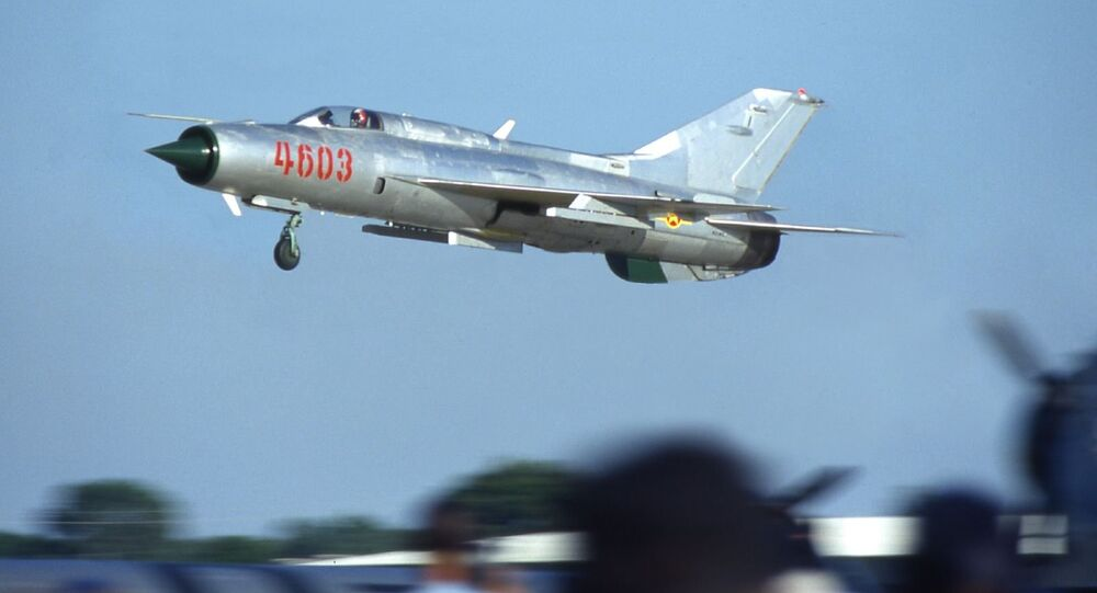 The Mikoyan-Gurevich MiG-21 is a supersonic jet fighter aircraft