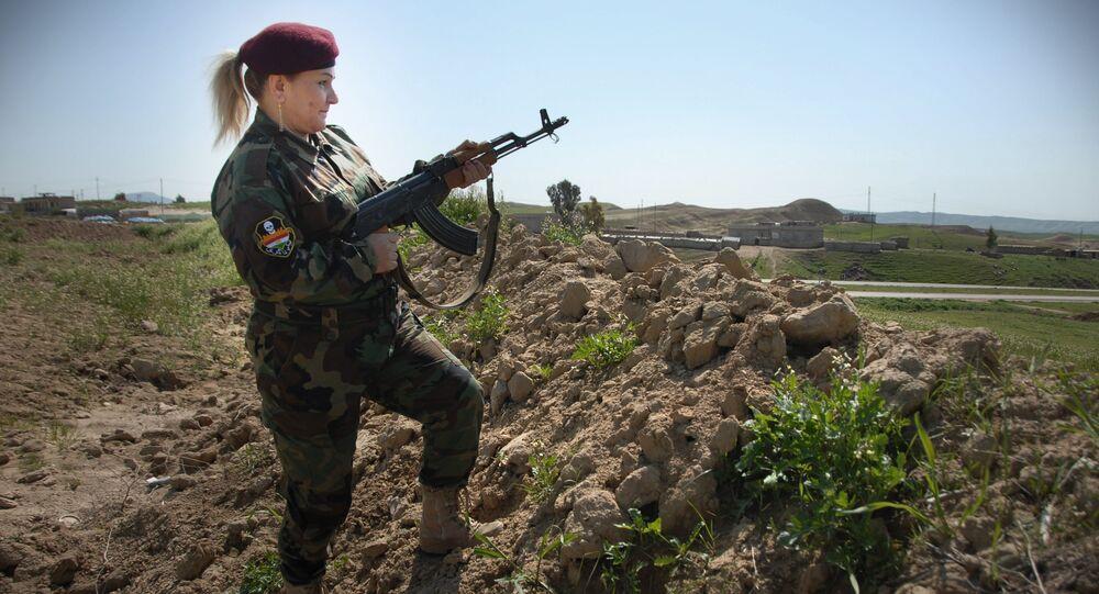 Hesibe Azad, commander of the Peshmerga female battalion