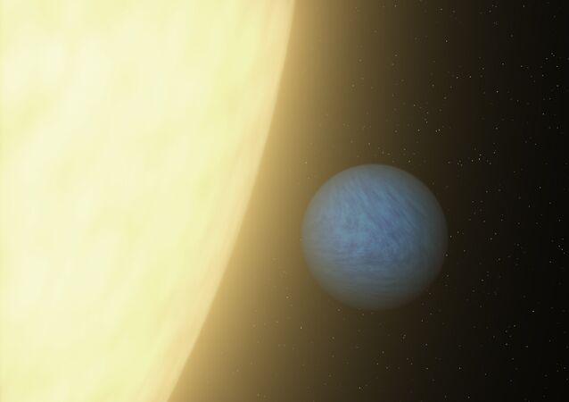 Artist's concept of the planet called 55 Cancri e