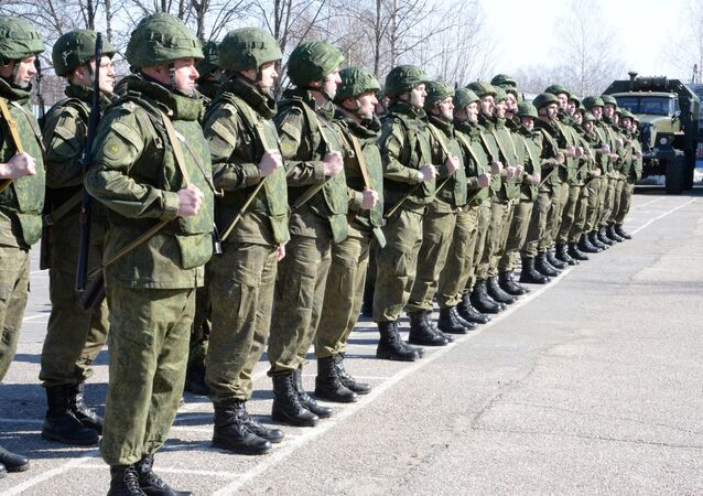 Combat engineers of the Russian Defense Ministry prepare to leave for Syria's Palmyra