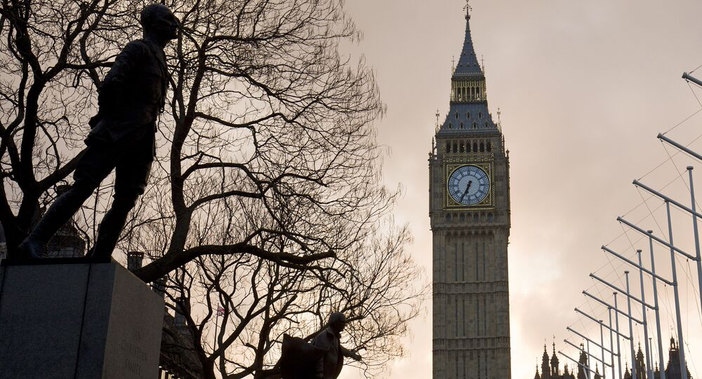 The sun rises behind The Elizabeth Tower, also known as 'Big Ben' on the day British Chancellor of the Exchequer George Osborne delivers his budget in London on March 16, 2016