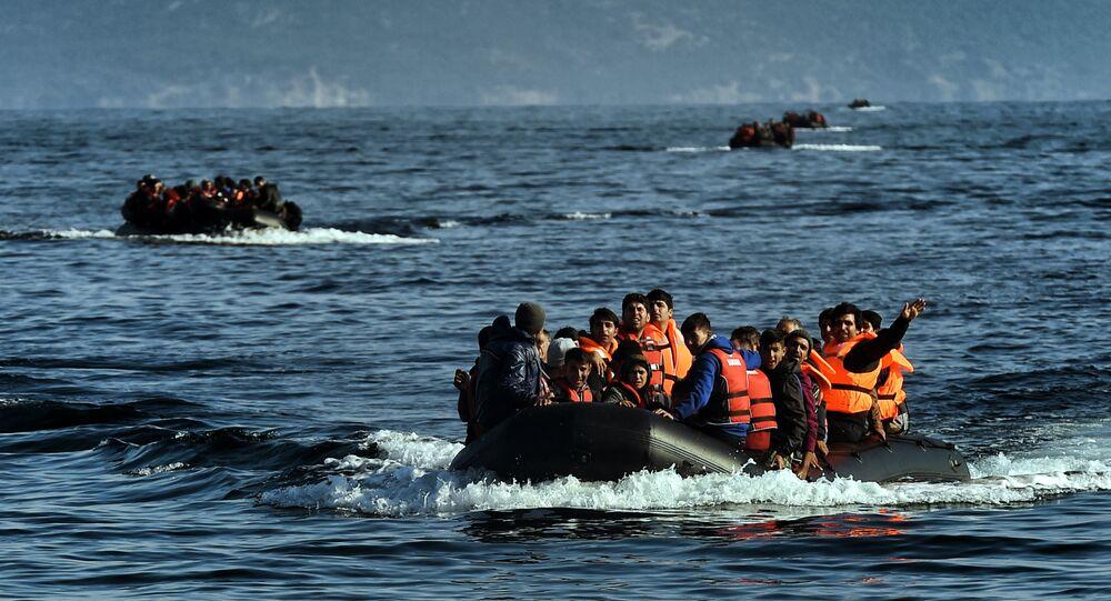 Refugees boat (File)