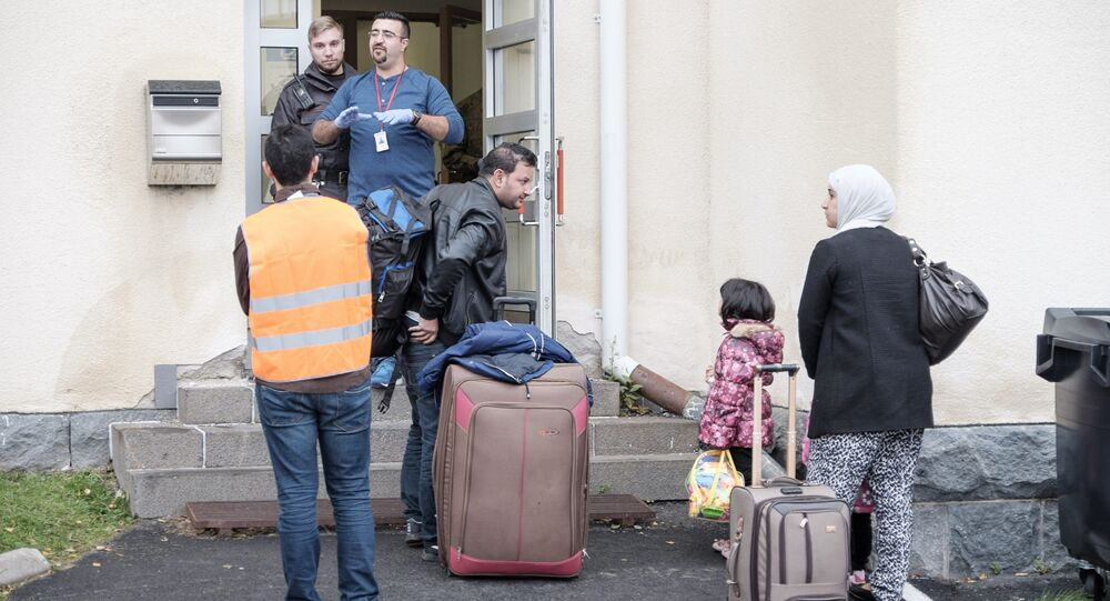 Migrants arrive at a refugee reception centre in Tornio,Finland  (File)