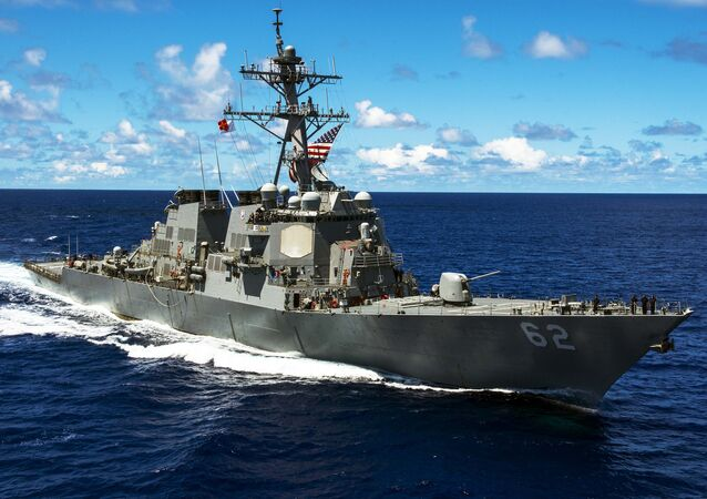 An Arleigh Burke-class guided-missile destroyer