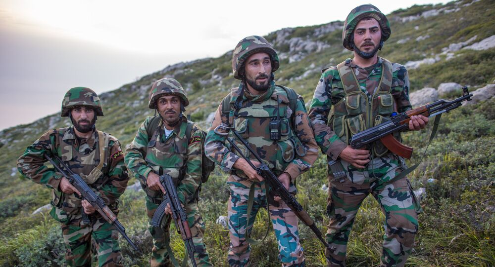 Sappers of the Syrian government forces (File)