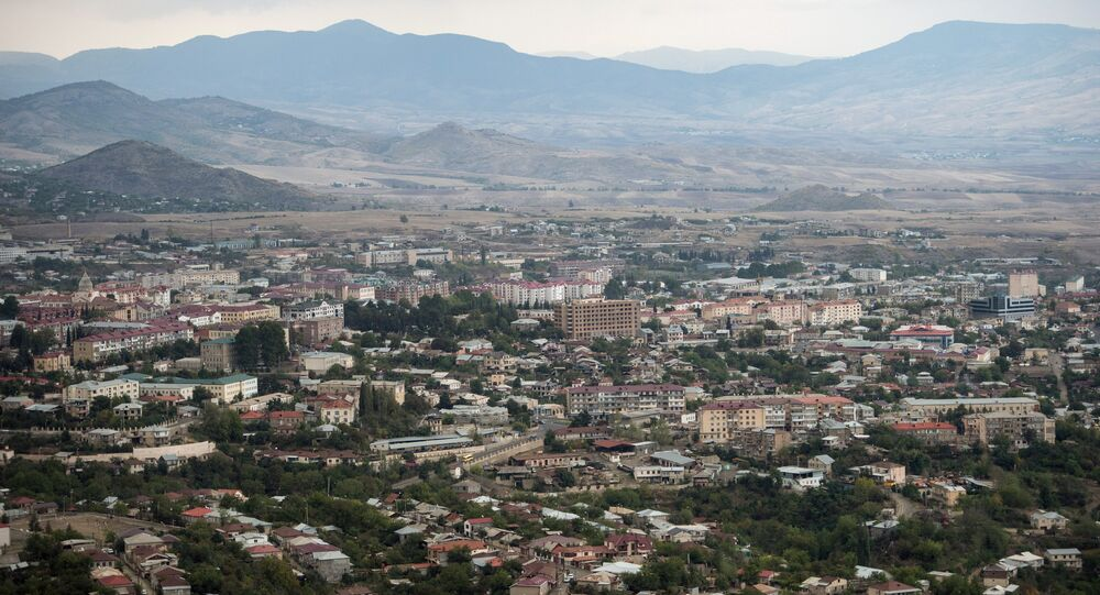 The town of Stepanakert in the self-proclaimed Nagorno-Karabakh Republic