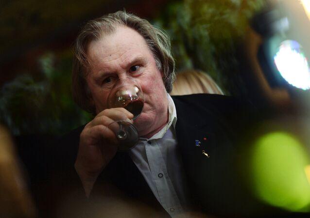 Gerard Depardieu at Crimean wine tasting