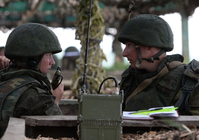 Soldiers during the exercise