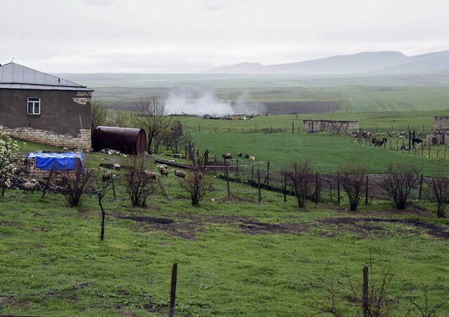 The Nagorno-Karabakh conflict zone.