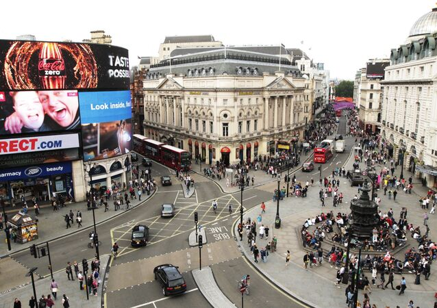Piccadilly Circus is seen in central London in this file photo taken July 31, 2012.