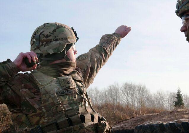 US soldiers train in Estonia