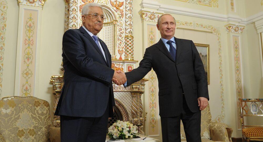 Vladimir Putin meets with Mahmoud Abbas (File)