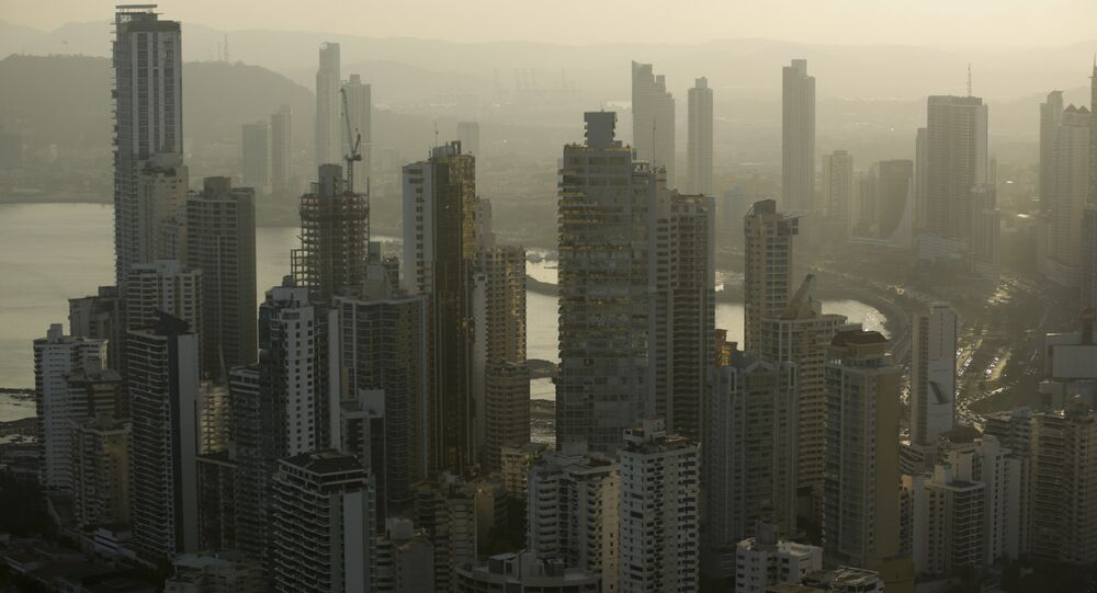 Panama City skyline is seen at sunset in Panama (File)