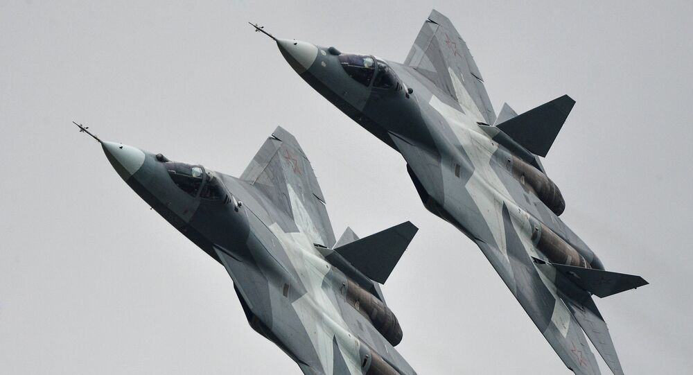 T-50 strike aircraft at a MAKS-2013 Aviation and Space Salon in Zhukovsky.file photo