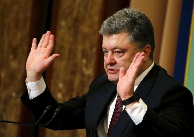 Ukraine's President Petro Poroshenko (File)