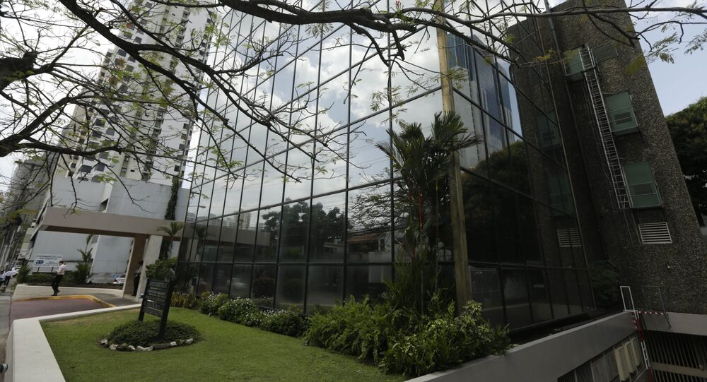 A view of the Arango Orillac Building where offices of the Mossack Fonseca law firm are located, in Panama City, Monday, April 4, 2016