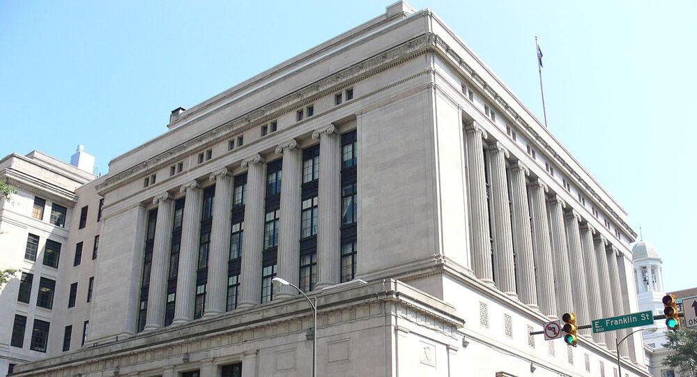 Supreme Court of Virginia Building, adjacent to Capitol Square in Richmond, Virginia