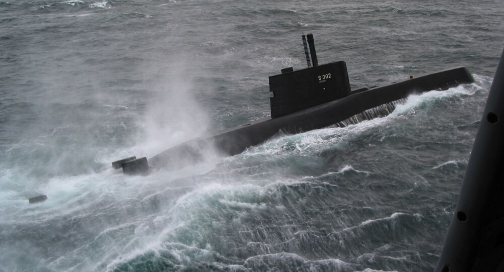 The Norwegian ULA class submarine Utstein (KNM 302) participates in the NATO exercise Odin-One