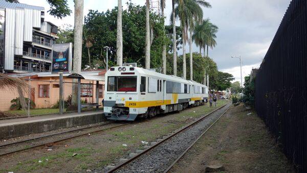 Costa Rican urban train at Universidad de Costa Rica station in San Pedro - Sputnik International
