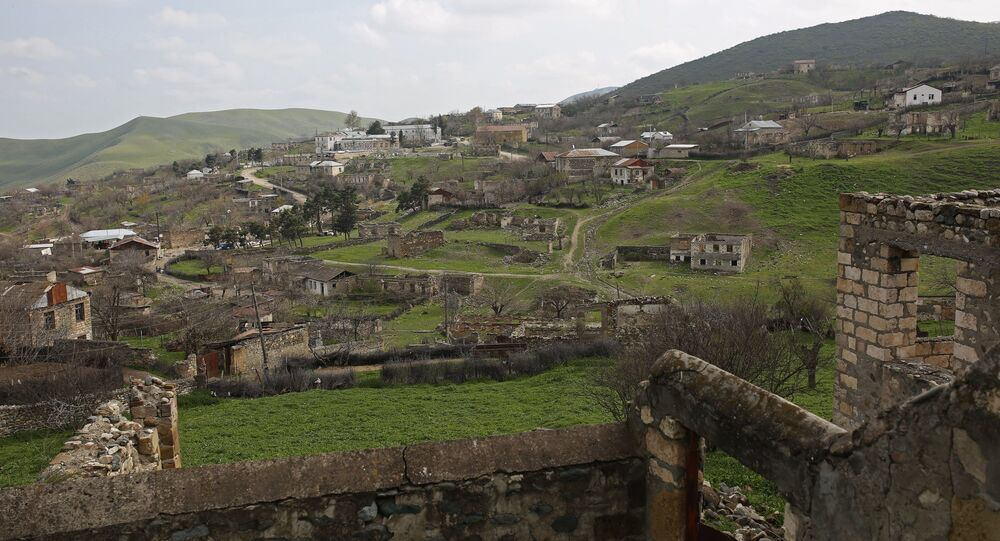 The village of Talish in the Nagorno-Karabakh conflict zone