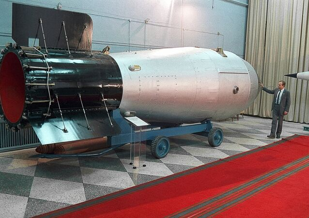 Thermonuclear bomb in the nuclear weapons museum