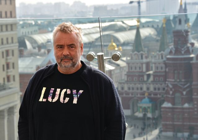 Luc Besson presents his movie Lucy in Moscow