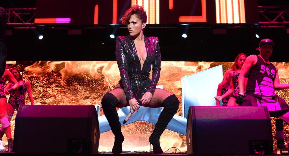 Musician Jennifer Lopez performs at Megaton Mundial de Polito Vega at Madison Square Garden in New York.