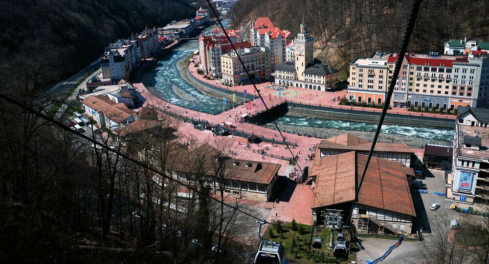Hotels in the Rosa Khutor ski resort area in the Adler District of Sochi.
