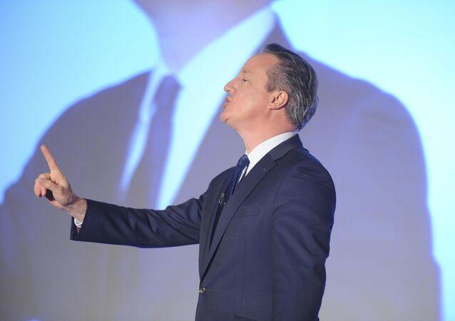 Britain's Prime Minister, David Cameron, addresses the Conservative Spring Forum in central London, Britain April 9, 2016.