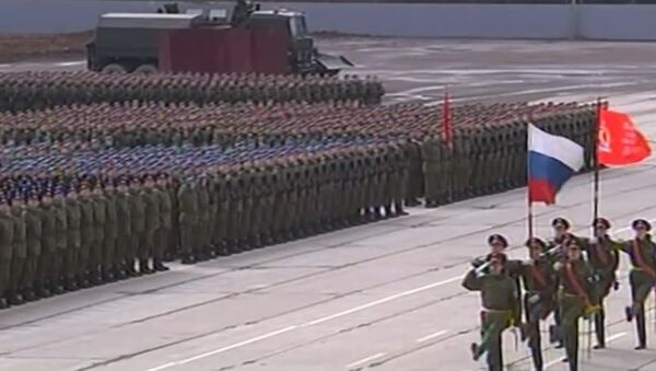 Russia: See massive training drills for 2016 Victory Day Parade - Sputnik International