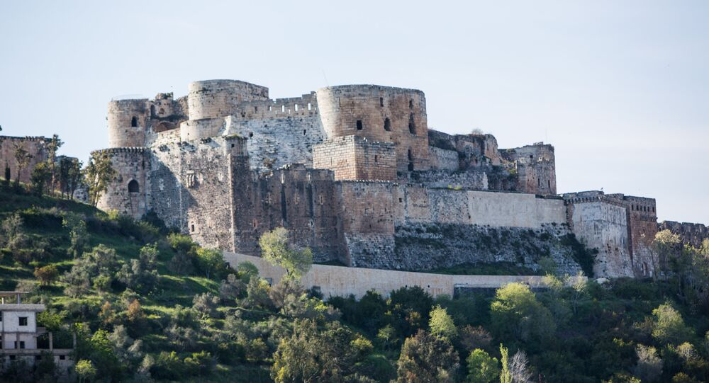 Krak des Chevaliers castle in Syria