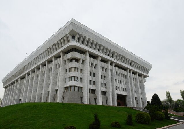 The building of Kyrgyzstan's parliament in Bishkek
