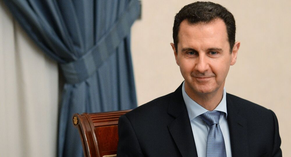 Syrian President Bashar al-Assad meets with Russian parliamentary delegation in Damascus