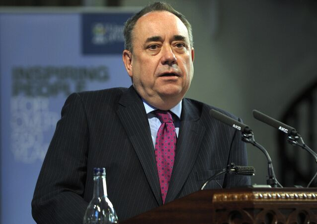 Former First Minister of Scotland and SNP parliamentary candidate for Gordon, Alex Salmond. (File)