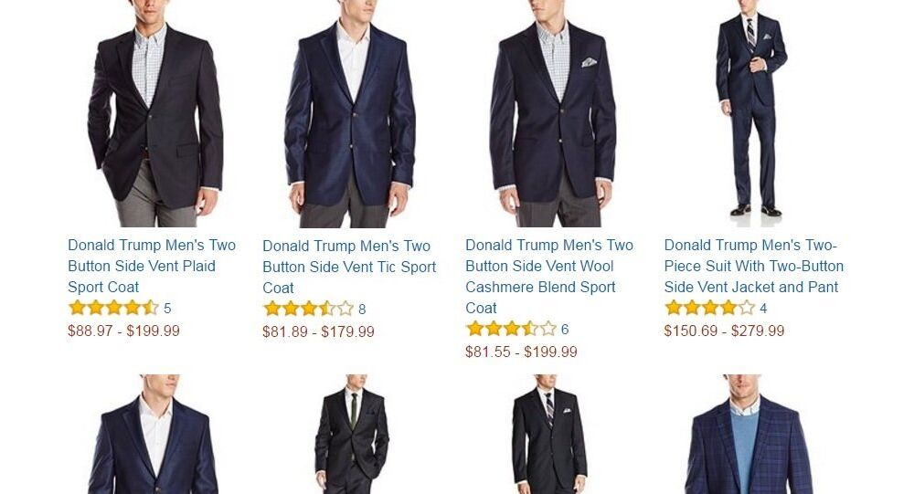 Donald Trump menswear