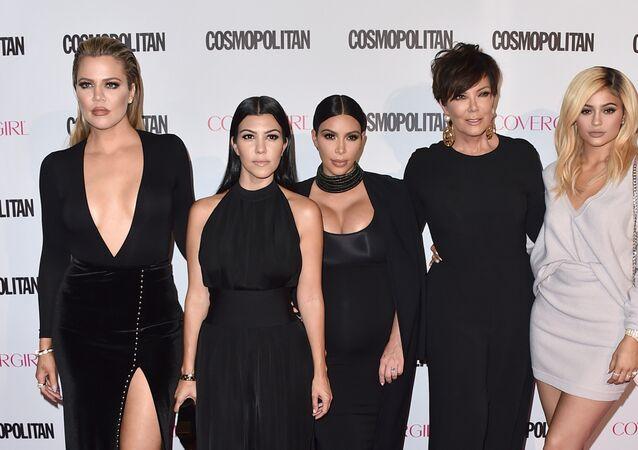 Khloe Kardashian, from left, Kourtney Kardashian, Kim Kardashian, Kris Jenner and Kylie Jenner in West Hollywood, California.