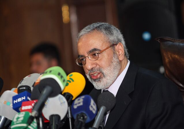 Syrian Information Minister Omran al-Zoubi speaks during a press conference in Damascus, Syria (File)
