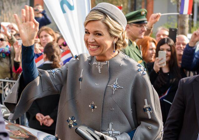 Dutch Queen Maxima visit Siemens Healthcare complex on April 14, 2016 in Erlangen.